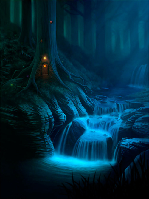 its the keebler elves' home! theartofanimation:  Nick Deligaris