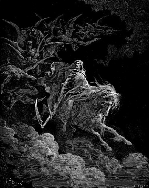 nowheresafefromthestorm:  Gustave Dorè-Death on a pale horse