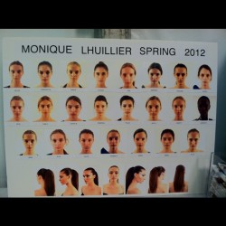 Monique Lhuillier Model Board (Taken with instagram)