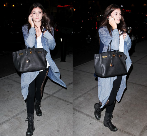 celeb411:  Kylie Jenner arriving at her NYC hotel-Sept.9