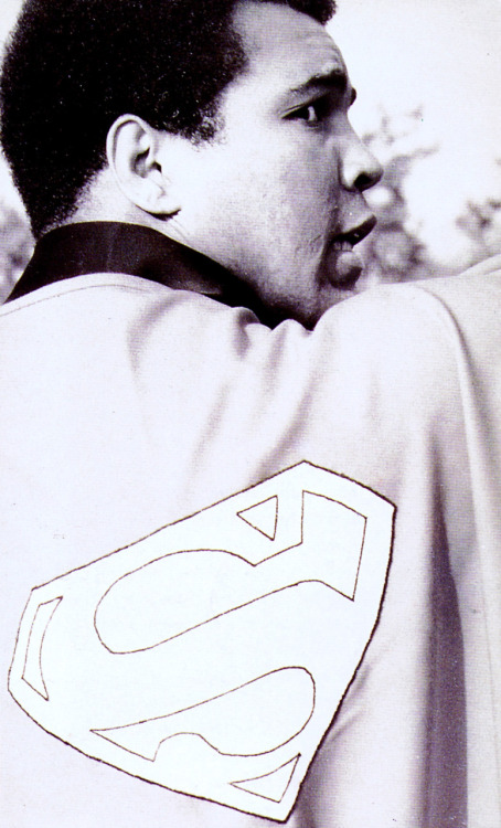 Happy 70th Birthday Muhammad Ali scanned from Superman: The Complete History :: Chronicle Books :: 1998