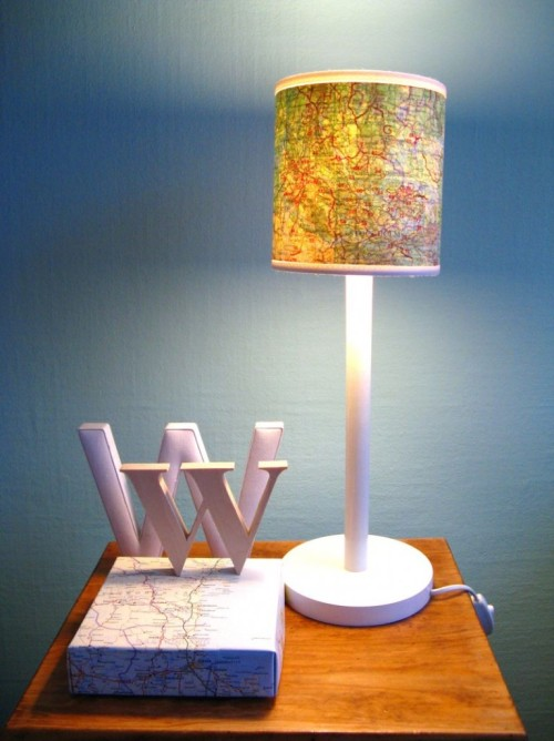 (via DIY Map Lamp! |)