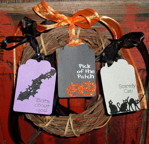 Halloween Gift Tag Set of 3 by ThisandThatCrafter on Etsy