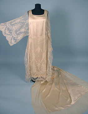 Wedding dress, early 1920's