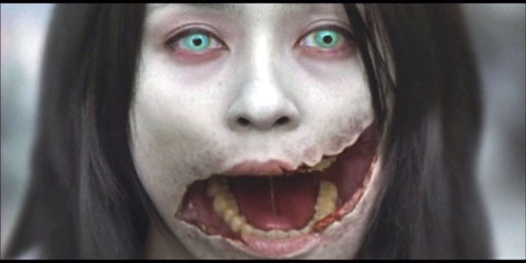 all-hallows-eve-night:  Kuchisake-onna  Children walking alone at night may encounter a woman wearing a surgical mask, this is not an unusual sight in Japan as people wear them to protect others from their colds or sickness. The woman will stop the child and ask, 'Am I beautiful?'. If the child answers no, they are killed with a pair of scissors which the woman carries. If they answer yes, the woman pulls away the mask, revealing her mouth is slit from ear to ear and asks 'How about now?'. If the child answers no, he will be cut in half. If he answers yes, then she will slit his mouth like hers.