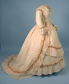 Wedding dress, ca 1860