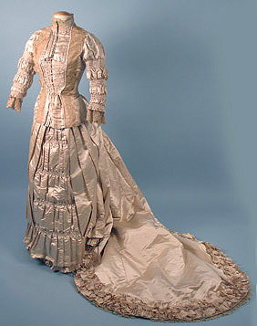 Wedding dress, 1880's