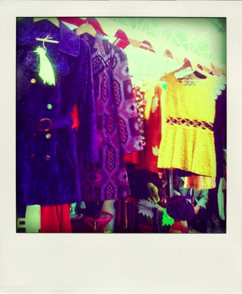 The Velvet Cave stall at Judy's Affordable Vintage Fair, Spitalfields Market, London.