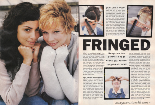 More from the October 1994 issue. CUTE BANGS.