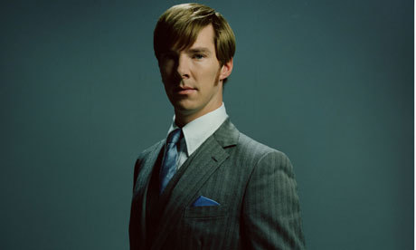 "Benedict Cumberbatch as Peter Guillam in Tinker Tailor Soldier Spy. 'I wanted his character to look as if he were interested in clothes and had recently bought a fashionable suit,' says costume designer Jacqueline Durran. Tom Hardy, who plays field agent Ricki Tarr, has the most interesting wardrobe. In the novel the character is Australian, which encouraged Durran to give him a more expressive style: ""He is out shooting people, so we wanted him to be this manly action person. The first person we turned to was Steve McQueen."" Inspired by the classic photographs of the Hollywood star taken in the early 1960s by William Claxton, Durran put Hardy in ""really straight cord trousers, preppy shirts, simple white short-sleeved T-shirts"" and a classic Harrington jacket.  Guardian article about the style of TTSS"