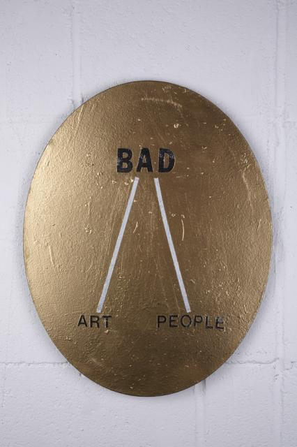 defacedbook:  Mark Flood Bad Art / People, 2008 Painting - Spray paint and acrylic latex on canvas (20 x 26 inches)