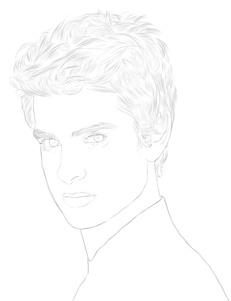 Andrew Garfield. Will be coloured soon.