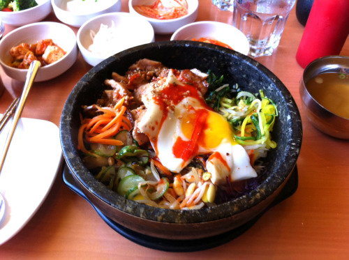 Grub-O-Meter: 4 out of 5 Bellies-Up (Pictured-Dol Sop Chicken Bim Bim Bop) Bowl'd Korean Rice Bar1479 Solano Ave(between Santa Fe Ave & Curtis St) Albany, CA 94706(510) 526-6223www.bowldsolano.com