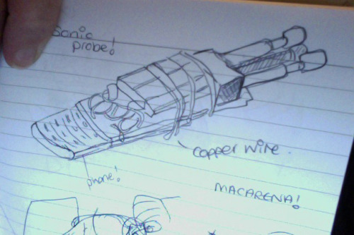 wilby118:  My drawing of Amy's Sonic Probe from 'The Girl Who Waited' I never realised it was actually made out of her phone :D