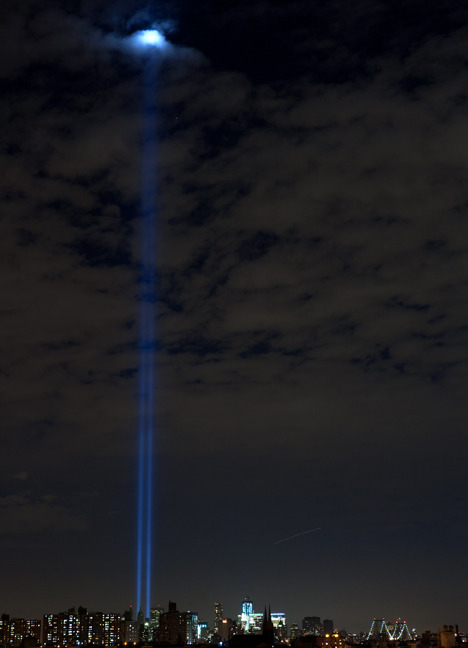 brooklyntheory:  Never Forget, NYC   N Y C lights up .