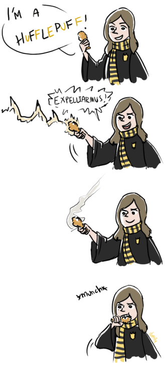 hufflepuff 4 lyfe that's a piece of chicken btw