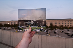 livelaughlovecastronovo:  The Pentagon - 11.09.2001 It's somewhat ironic how something about the pentagon has so few notes. New York was not the only place hit on 9/11. Never forget.