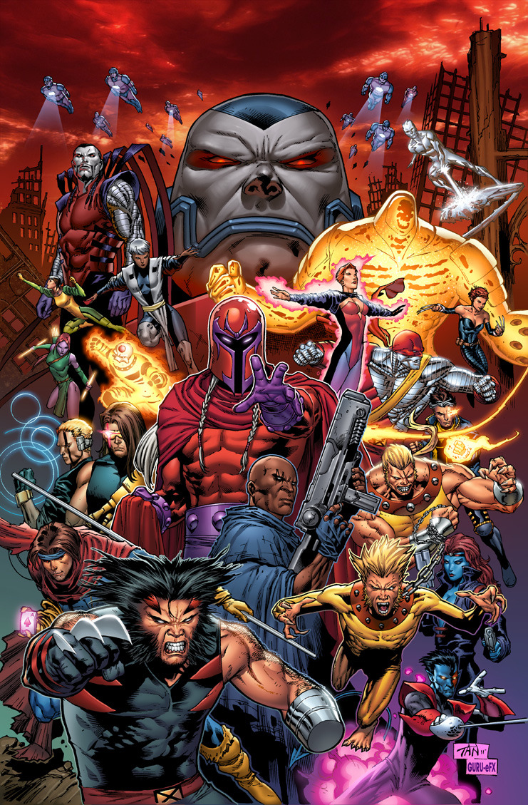 comicsforever:  X-Men: The Age Of Apocalypse // artwork by Phillip Tan and Joe Weltjens (~GURU-eFX,2011)  O____O