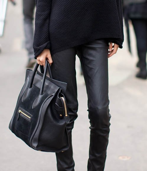 knit, leather and celine! What could be better?