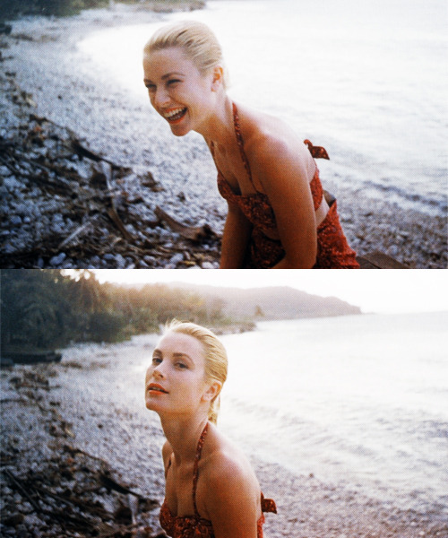 Grace Kelly photographed by Howell Conant, Jamaica, 1955.