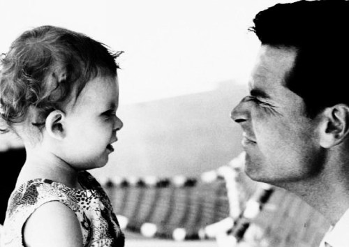James Garner and his daughter Gigi  Just two peas in a pod ;)