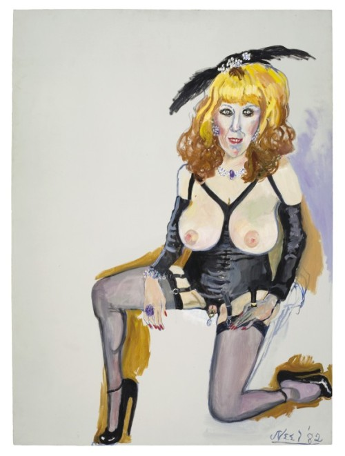fyeahwomenartists:  Alice NeelAnnie Sprinkle, 1982Oil on canvas  (via Alice Neel)
