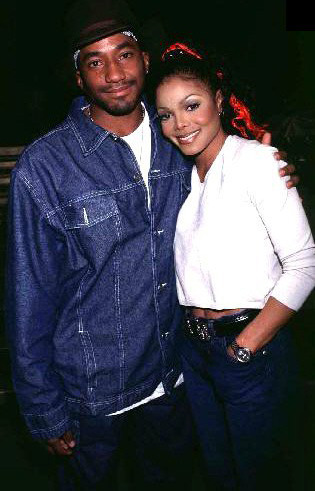 Q-Tip and Janet Jackson. (photographer unknown)