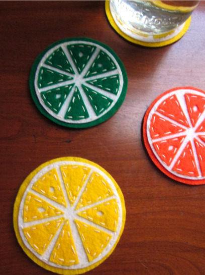 craftyscientist:  (via DIY: Felt Citrus Coasters | The Spotted Fox)