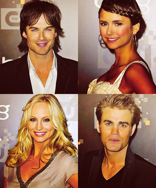 -kunis:   Ian Somerhalder, Nina Dobrev, Paul Wesley and Candice Accola at The CW Premiere Party