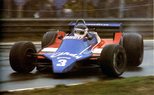 goodoldvalves:  Jen-Pierre Jarier in the Tyrrell 010-Cosworth. Zolder, 1980.