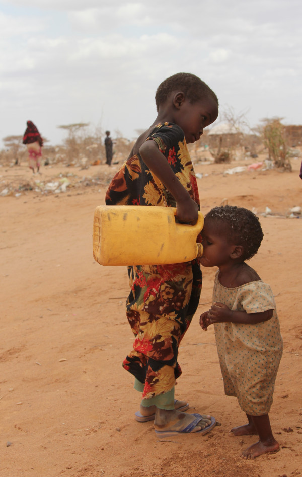 themusingsofasimpleton:  The pain in my heart on seeing one hungry, thirsty child give another water was overwhelming. Allah protect them. Ameen.