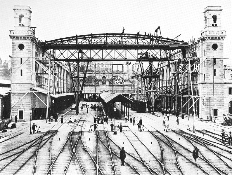 The  Main Station under construction in 1870, Zürich