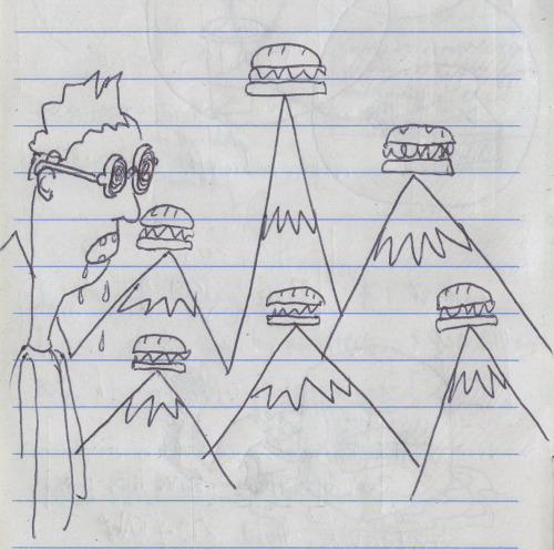 Man Has A Really Great Hallucination. Every Mountain Has its Own Sandwich.