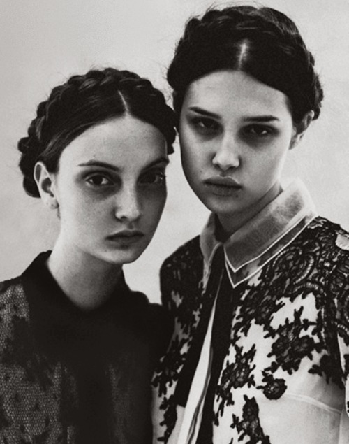 moldavia:  Anais Pouliot and Codie Young in Grey #5 F/W 2011 by Chadwick Tyler