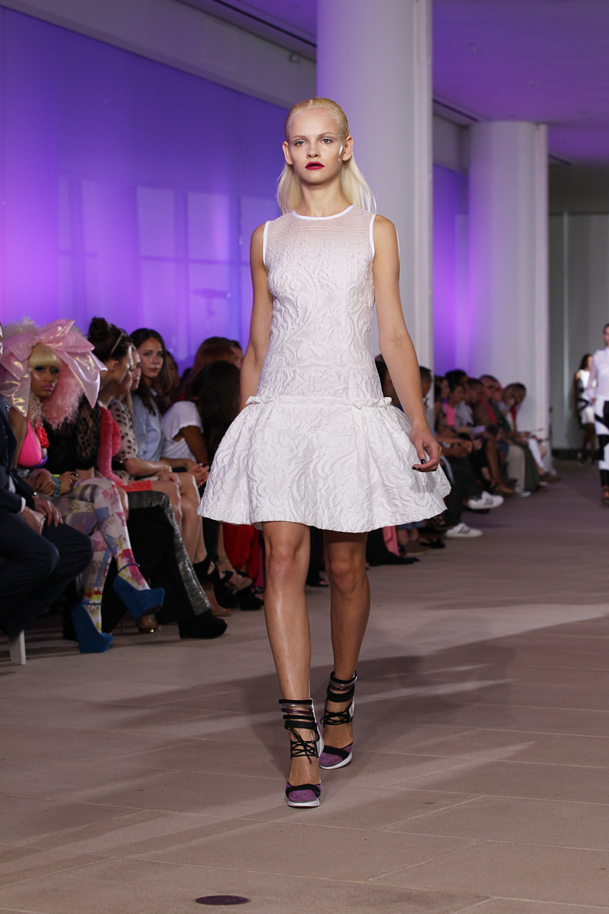 A look from Prabal Gurung's S/S 2012 show Photo Credit: Fairchild Images