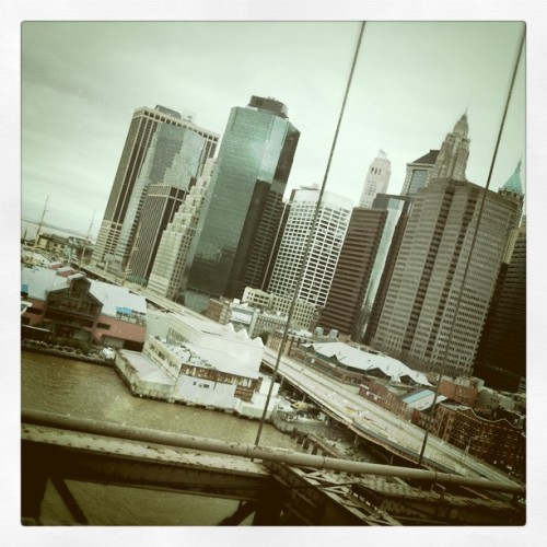 Manhattan. 9/11 (Taken with Instagram at Brooklyn Bridge)