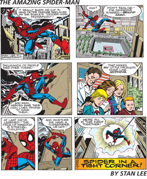 staygreat:  spider man comic by stan lee about 911 CLICK TO READ BIG