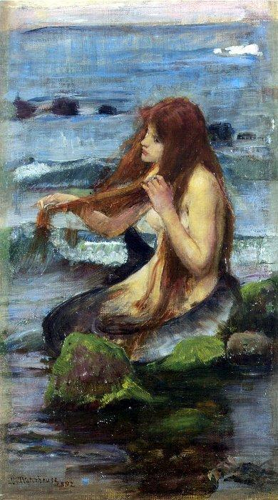 The Mermaid (Study), 1892, by John William Waterhouse