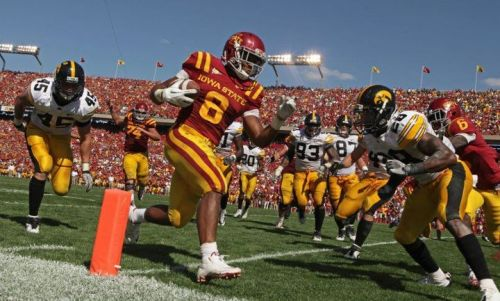 iowastate:  Iowa State over Iowa, 44-41 in the third overtime.