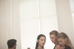 jaw3:  Backstage at Prabal Gurung - Spring 2012 - NYFW (photo by Samantha Casolari)