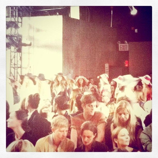 Finale time @dkny The hats were majorly cute (Taken with instagram)