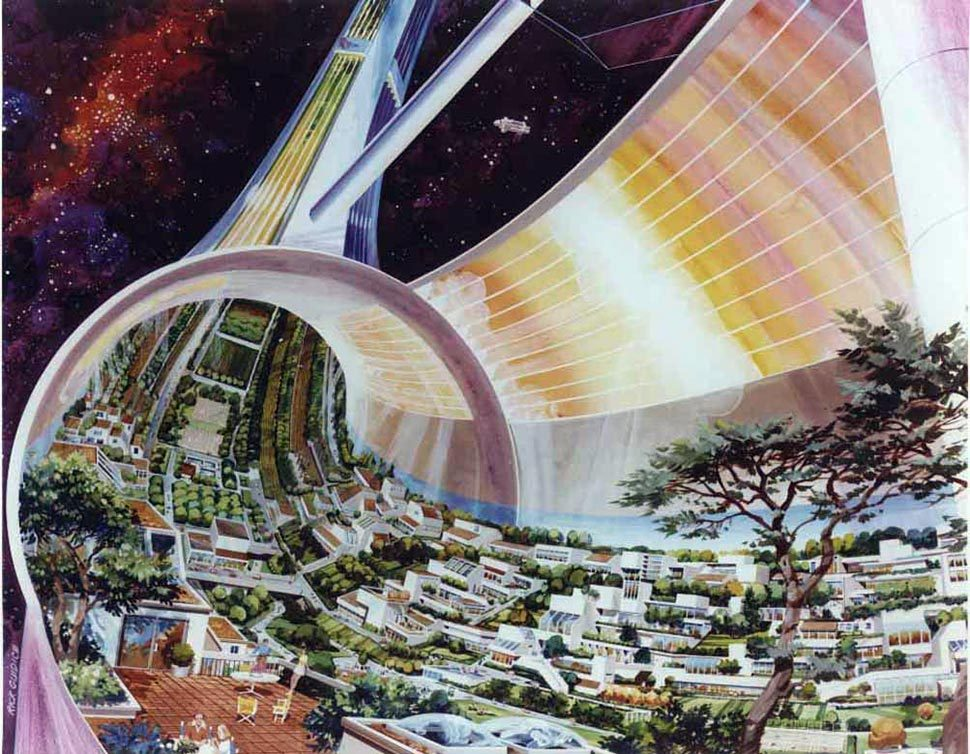 RETRO FUTURISTIC SPACE COLONIES