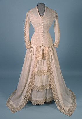 Wedding dress, 1878-1880