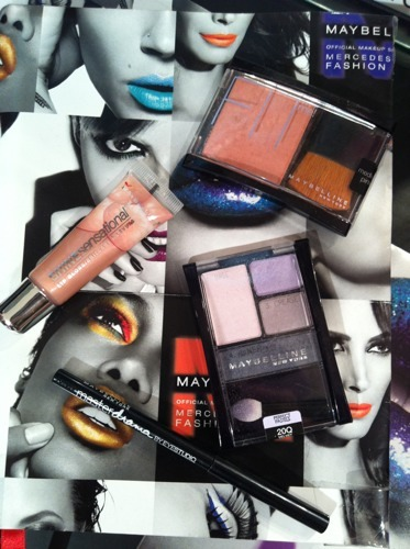 The most popular Maybelline goodies at the Haute Spot makeup station. Come visit us and get your makeup done! Photographed by Jane Shin Park.