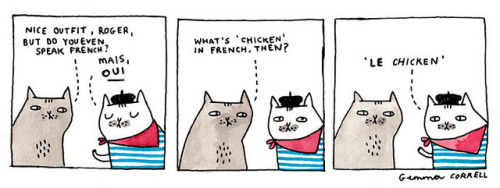 magicfran:  le chicken by gemma correll on Flickr.