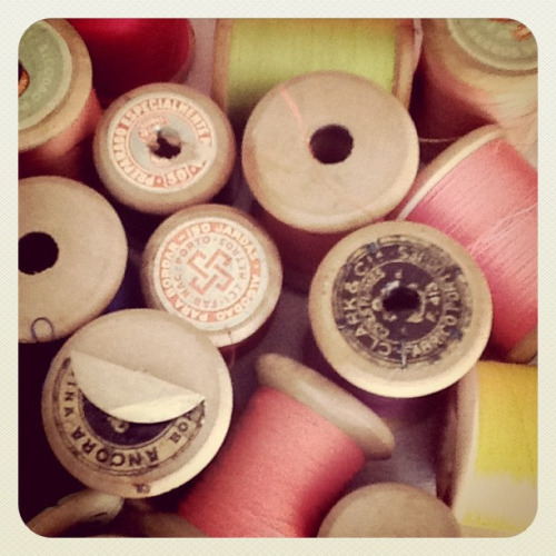 craftydoula:  Spools on Flickr.