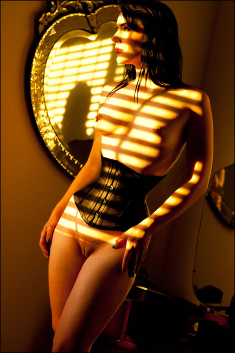 Beauty behind the blinds.