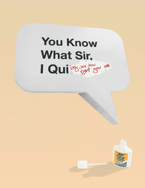 jaymug:  BIC Wite' Out Advertising