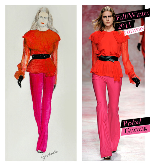 My favorite Fall Look 2011:  Prabal Gurung Fall/Winter 2011