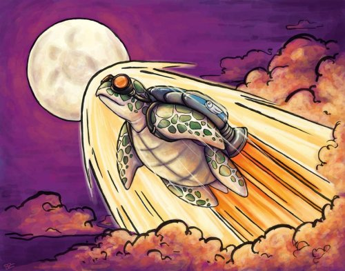 "fuckyeahpsychedelics:  ""Song Of The Space Turtle"" by bzyglowi"